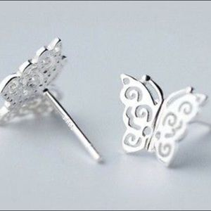 Jewelry - 925 sterling butterfly earrings